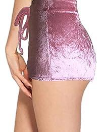 Boomerre Womens Velvet Soft Stretchy Shorts Clubwear High...