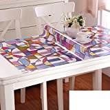 Pvc,[waterproof], oil-proof , disposable,soft glass,matte table mat/tea table mats/[flowers],waterproof printed tablecloth-A 90x160cm(35x63inch)