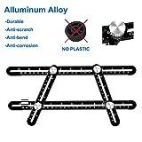 Rofeer Multi measurement Angle Ruler-Full Metal Angleizer Template tool-Upgraded Aluminum Alloy Multi Functional measuring Ruler for Brickwork, Handymen, Builders, Craftsmen, Roofers, or DIY Project