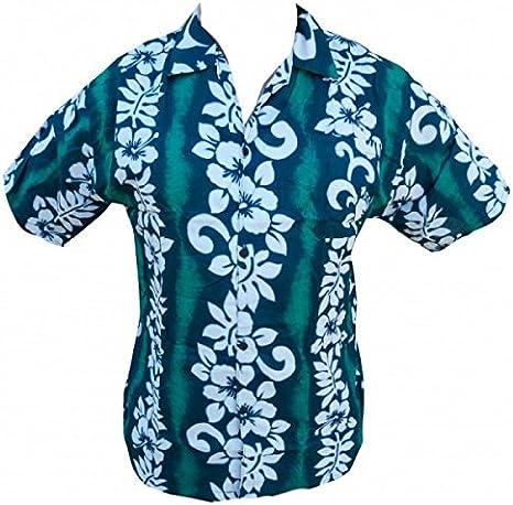 Camisa hawaiana hibisco Line niño Verde verde: Amazon.es: Ropa y accesorios