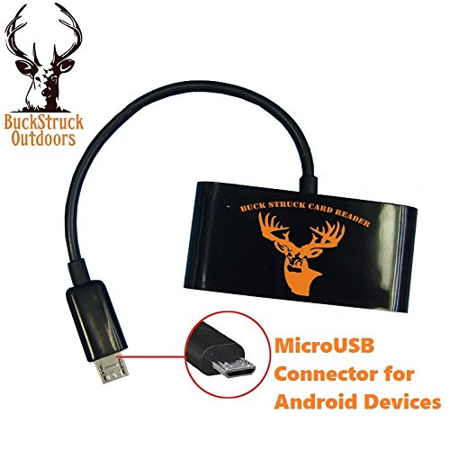BuckStruck Game and Trail Camera Viewer for Android Devices, Micro Usb Connection, Reads & Writes SD and Micro SD Cards for Hunting and Game Camera Card Reader by BuckStruck Outdoors (Image #3)
