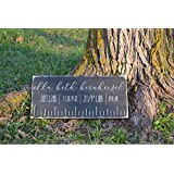 "DKISEE Baby Announcement Baby Stats Weight Measurements Birth Stats Wood Sign - 12"" x 24""/ 30x60cm"