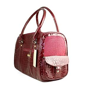 Petcare European Style Crocodile Pattern Pet Dog Carrier Bag (red)