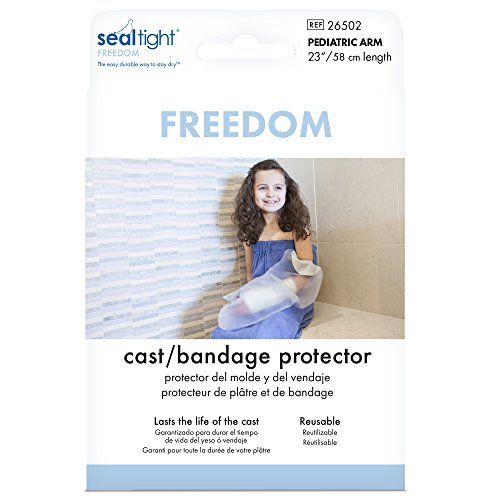 Seal Tight Freedom Cast and Bandage Protector, Best Watertight Protection, Pediatric Arm by Brownmed (Image #2)