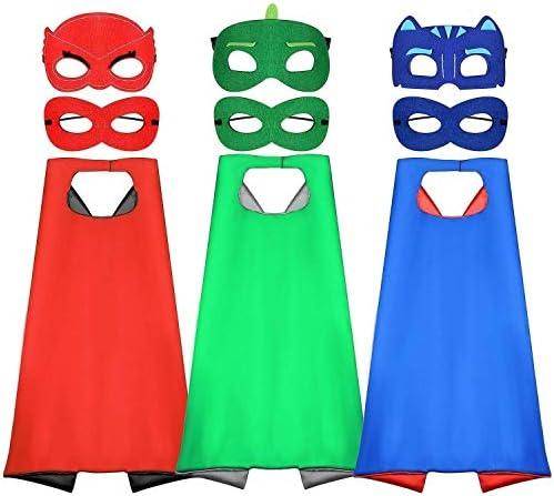 Tacobear PJ Masks Disfraz para niño 6 Piezas PJ Mascaras 3 Piezas ...