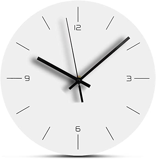 Large Display Clock Battery Operated Quartz Accuracy Grey 10 Round RCA RCWC10WG Wall Clock Decorative Wall Clock