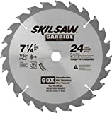 SKIL 75724 24-Tooth Carbide Circular Saw Blade, 7 1/4""