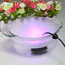 Icarekit 12 LED Light Mini Ultrasonic Mist Maker Air Humidifer Fogger Water Fountain Pond Atomizer