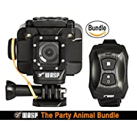 WASPcam 9905 WiFi Action-Sports Camera, Black (The Party Animal Bundle)