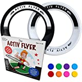 Activ Life Best Kid's Frisbee Rings [Black/White] 2 Pack - Summer Beach Gear Items and Swimming Pool Toys - Water Games Sand Lawn Fun Stuff - Outdoor Toddler & Outside Family Essentials