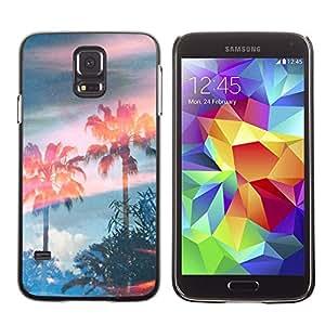 Caucho caso de Shell duro de la cubierta de accesorios de protección BY RAYDREAMMM - Samsung Galaxy S5 SM-G900 - Trees Magic Summer Sky