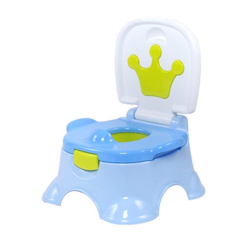 LQW HOME Child Toilet Baby Female Toilet Portable Urinal Baby Toilet Large Simple (Color : Blue, Size : 27.530cm)