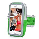 Yostyle Sports Armband Sweatproof Running Armbag Gym Fitness Workout Cell Phone Case with Key Holder Wallet Card Slot for iPhone X 8 7 6 6s Plus Samsung Galaxy S5 S6 S7 S8 Edge 5.5 Inch (Green)