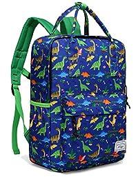 Boys Backpack, Kasqo Toddler Kids Personalized Preschool Backpack for Kindergarten Children Lightweight Daypack with Chest Strap in Dinosaur