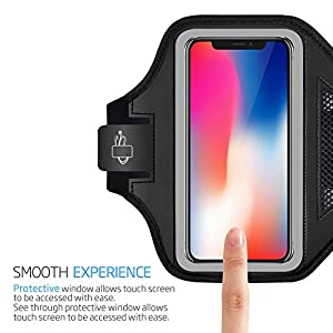 iPhone X Armband - LOVPHONE Sport Running Exercise Gym Sportband Case for iPhone X Armband,Fingerprint Sensor Access Supported, with Key Holder & Card Slot,Water Resistant and Sweat-proof(Gray)