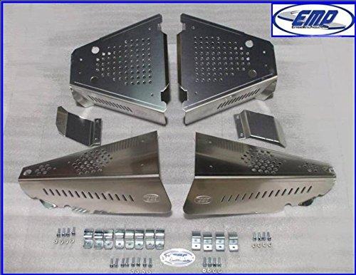 Extreme Metal Polaris Ranger 500 800 CV Boot Guards. All Aluminum. 10544-AL