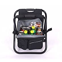 Sokey Backpack Foldable Chair with ice Bag Excellent for Fishing, Beach, Camping and Outdoor activies