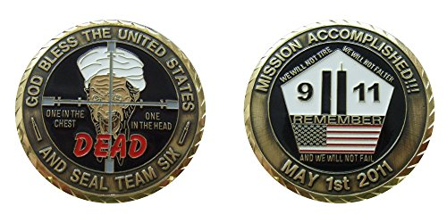 Edge Logo Gear (Osama Bin Laden Challenge Collectible Coin Logo Metal Lucky Poker Chips & Gift)