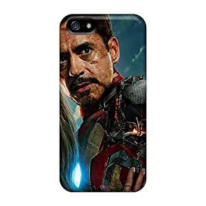 Iron Man 3 2013 Movie Design phone carrying shells Protective Stylish Cases First-class Iphone5 iphone 5s iphone 5