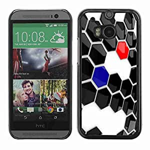 Planetar® ( Abstract Hexagon ) Fundas Cover Cubre Hard Case Cover All New HTC One (M8)