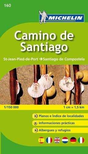 Michelin Camino de Santiago: Straßen- und Tourismuskarte 1:150.000 (MICHELIN Zoomkarten, Band 160)
