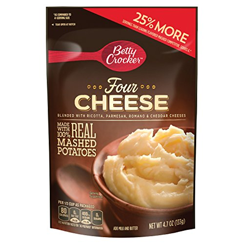 Betty Crocker Hearty Four Cheese Potatoes 4.7 oz Pouch (pack of 7) ()