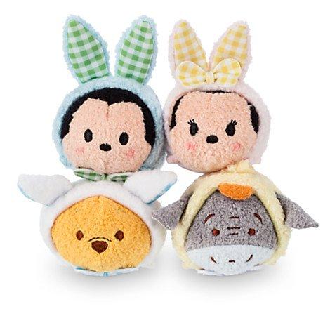 Peluches Tsum Tsum Mickey, Minnie, Winnie, Bourriquet dans un panier de Pâques: Amazon.es: Juguetes y juegos
