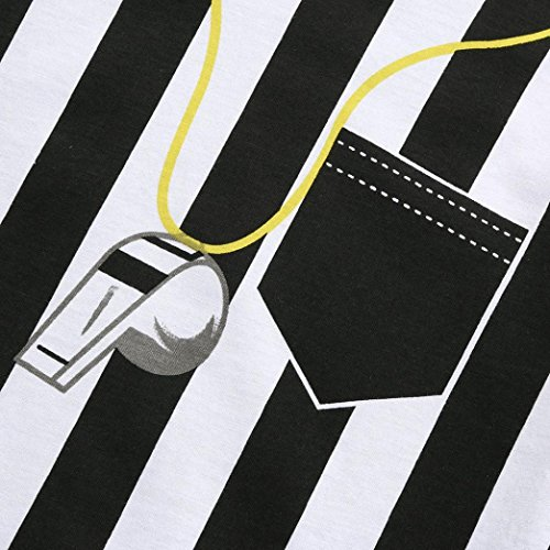 Rucan Baby Romper, Newborn Toddler Baby Boys Striped Football Soccer Referee Romper Jumpsuits