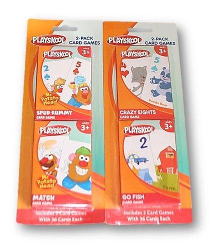 Playskool Card Games 4-Pack (Crazy Eights, Go Fish, Mr. Potato Head Spud Rummy & Mr. Potato Head Match Game)