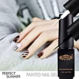 Perfect Summer Hot New 6pcs DIY 3D Nails Artistic Ideas Designs Painting Gel Polishes Liquid Painted Nail Gel Brushes Pastel Pen Nail Gel Liner for Women Girls #04