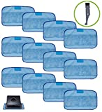 I clean 12-Packs Wet Cloths for iRobot Braava Robot, Replacement Washable Pro-Clean Mopping Cloths For iRobot Braava 380t 320 Mint 4200 5200