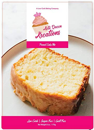 Keto Queen Kreations, Low Carb (1 net), Sugar Free, Keto, Pound Cake Mix 6 oz. (12 Servings) (Icing Chocolate Mix)