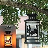 BOLUOYI Landscape Lighting & Accessories,Christmas Lights White Wire Led,Hanging Lantern Flame Lamp Decor Light Vintage Party Castle Halloween Pumpkin