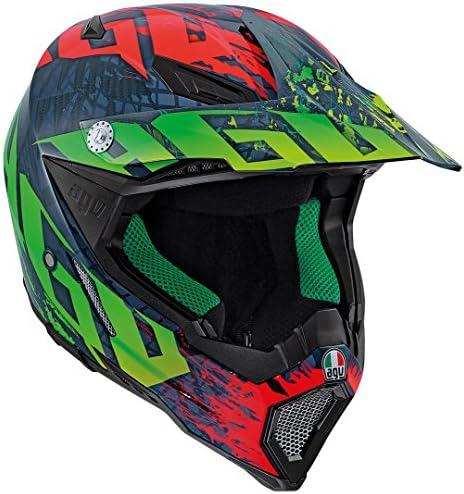 AGV エージーブイ AX-8 Carbon Nohander Multi Helmet 2016モデル オフロードヘルメット ブラック/グリーン/レッド 3XL(65~66cm)