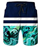 Best Octopus Bathing suits - Belovecol Hiphop Style Juniors Novelty Casual Shorts Octopus Review
