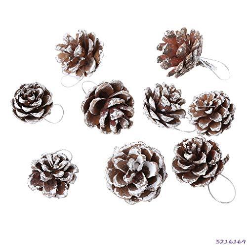 Sala-Tecco - 9Pcs Christmas Gift Xmas Tree Ornament Hanging Balls Pine Cones Decor For Home