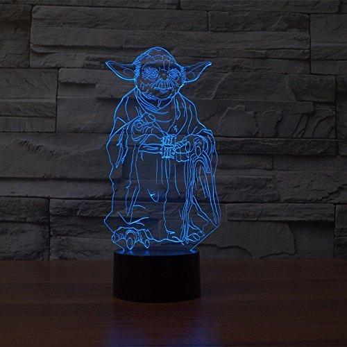 Enfants Led De 3d Pour Star Lumière Nuit Touch Wars Lampe Visuelle UzVqpMGS