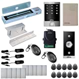 Visionis FPC-5292 One Door Access Control Inswinging Door 600lbs Maglock with VIS-3000 Outdoor Weather Proof Keypad/Reader no software 2000 Users Wireless Receiver Kit