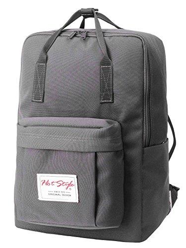HotStyle Leicht Daypack Rucksack mit 15 zoll Laptopfach (39x27x14cm) - Navyblau D143G, Grau