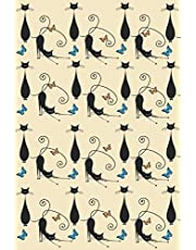 Journal: Black Cats and Butterflies 6x9 - LINED JOURNAL - Writing journal with blank lined pages