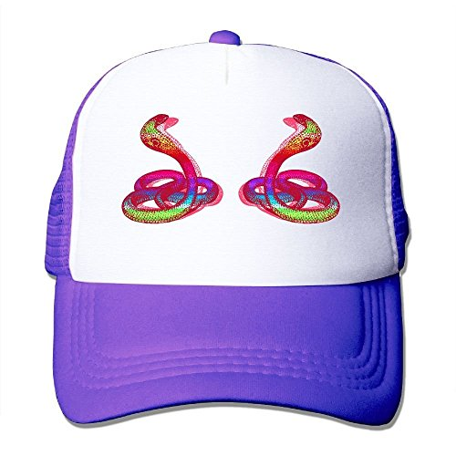 Classic Mesh Back Trucker Hats Double Double Rainbow Cobra Snake Mesh Hat Adjustable Hats for Adults and (Purple Cobra Costumes)