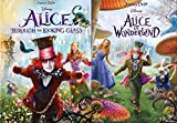 Down The Rabbit Hole Through the Looking Glass With Alice in Wonderland DVD Tim Burton Disney Double Family Wild Fantasy Feature