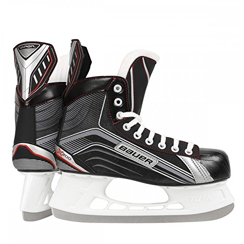 Bauer Senior Vapor X200 Skate, Black/Silver, R (Tapered Hockey Blades)