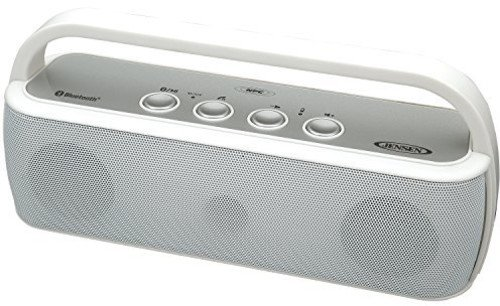 Jensen SMPS-627-W Portable Bluetooth Wireless Stereo Rechargeable Speaker by Jensen