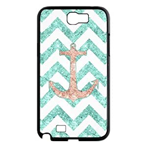 case Of Anchor Chevron Customized Bumper Plastic Hard Case For Samsung Galaxy Note 2 N7100