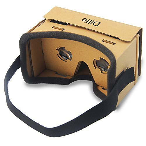 Dlife(TM) DIY Google Cardboard 3d VR Virtual Reality 3d Glasses for Iphone Samsung HTC Cellphones 3.5 ~ 6 Inch Screen