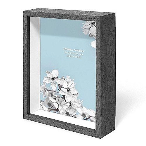 Swing Design Chroma Shadow Box Frame, 8 by 10-Inch, Charcoal Gray by Swing Design