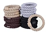 Best Ponytail Holders By HBY-Stylish & Durable Elastics, Perfect For All Hair Types & Styles-Value Pack Of 20 in Vibrant Colors-Great For Thick Hair-Extra Stretchy 2