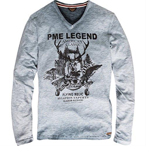 Pme legend hell blau gefärbten longsleeve