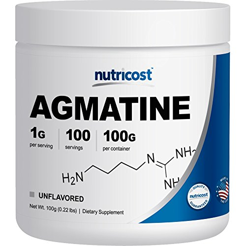 Nutricost Agmatine Pure Agmatine 100 Servings (Agmatine Sulfate)
